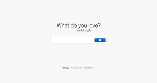 Google What Do You Love Home Page