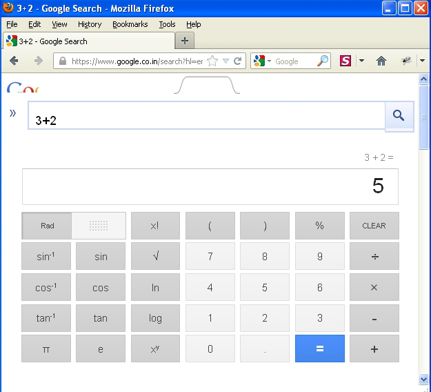 Calculations performed via Google search as a mobile user agent