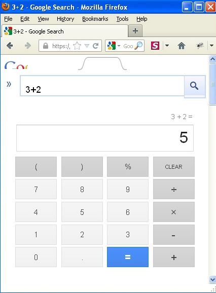 Google Calculator small size